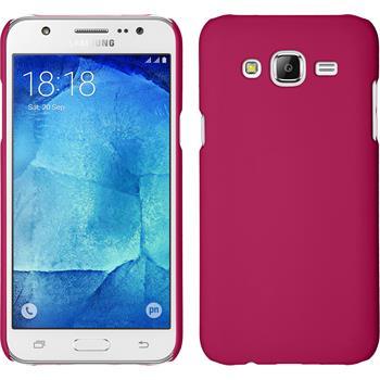 Hardcase Galaxy J5 (2015 - J500) gummiert pink + 2 Schutzfolien
