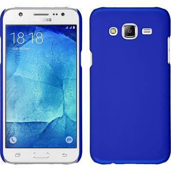 Hardcase Galaxy J7 gummiert blau