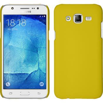 Hardcase Galaxy J7 gummiert gelb