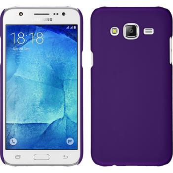 Hardcase für Samsung Galaxy J7 gummiert lila