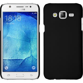 Hardcase Galaxy J7 gummiert schwarz