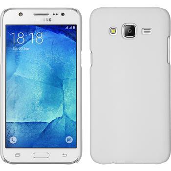 Hardcase Galaxy J7 gummiert weiß