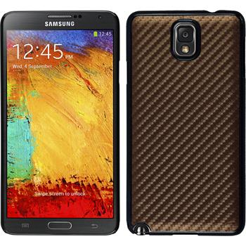 Hardcase Galaxy Note 3 Carbonoptik bronze