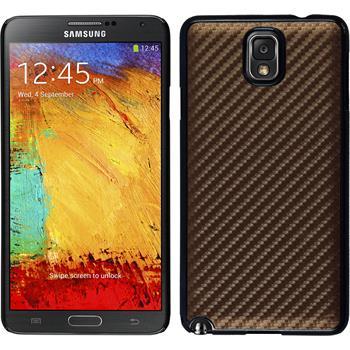 Hardcase for Samsung Galaxy Note 3 carbon optics bronze