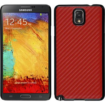 Hardcase Galaxy Note 3 Carbonoptik rot