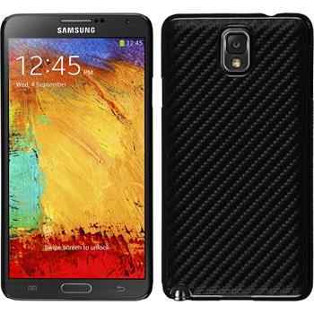 Hardcase für Samsung Galaxy Note 3 Carbonoptik schwarz