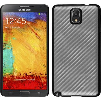 Hardcase Galaxy Note 3 Carbonoptik silber