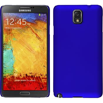 Hardcase for Samsung Galaxy Note 3 rubberized blue