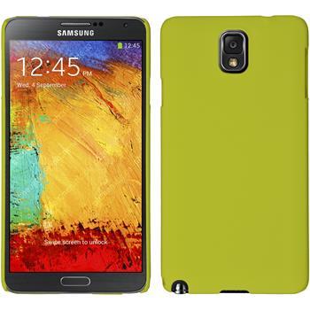 Hardcase Galaxy Note 3 gummiert gelb