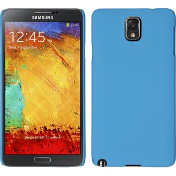 Hardcase for Samsung Galaxy Note 3 rubberized light blue