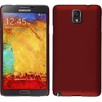 Hardcase Galaxy Note 3 gummiert rot