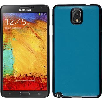 Hardcase Galaxy Note 3 Lederoptik blau