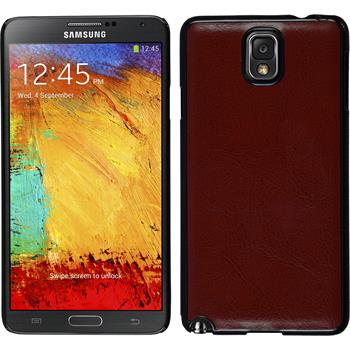 Hardcase for Samsung Galaxy Note 3 leather optics brown