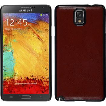 Hardcase für Samsung Galaxy Note 3 Lederoptik braun
