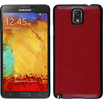 Hardcase for Samsung Galaxy Note 3 leather optics red