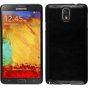 Hardcase for Samsung Galaxy Note 3 leather optics black