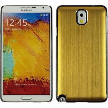 Hardcase Galaxy Note 3 Metallic gold + 2 Schutzfolien