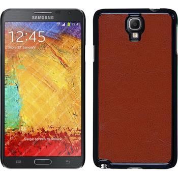 Hardcase für Samsung Galaxy Note 3 Neo Lederoptik braun