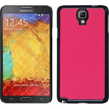 Hardcase for Samsung Galaxy Note 3 Neo leather optics hot pink