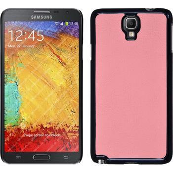 Hardcase für Samsung Galaxy Note 3 Neo Lederoptik rosa