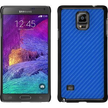 Hardcase für Samsung Galaxy Note 4 Carbonoptik blau