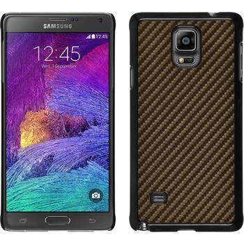 Hardcase für Samsung Galaxy Note 4 Carbonoptik bronze