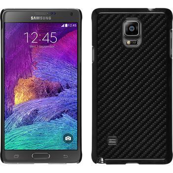 Hardcase Galaxy Note 4 Carbonoptik schwarz