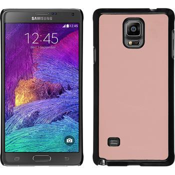 Hardcase für Samsung Galaxy Note 4 Lederoptik rosa