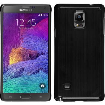 Hardcase Galaxy Note 4 Metallic schwarz