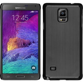 Hardcase für Samsung Galaxy Note 4 Metallic silber