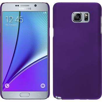 Hardcase Galaxy Note 5 gummiert lila