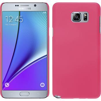Hardcase für Samsung Galaxy Note 5 gummiert pink
