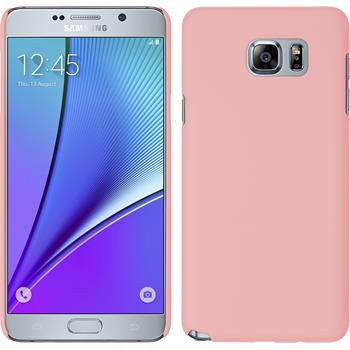 Hardcase Galaxy Note 5 gummiert rosa + 2 Schutzfolien