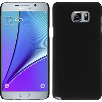 Hardcase Galaxy Note 5 gummiert schwarz