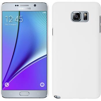 Hardcase Galaxy Note 5 gummiert weiß