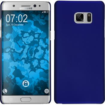Hardcase Galaxy Note 7 gummiert blau