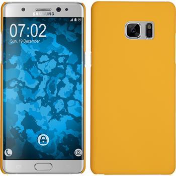 Hardcase Galaxy Note 7 gummiert gelb