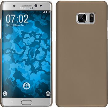 Hardcase Galaxy Note 7 gummiert gold