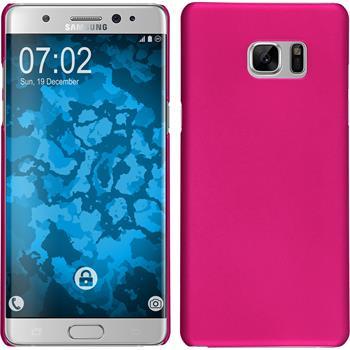 Hardcase Galaxy Note 7 gummiert pink