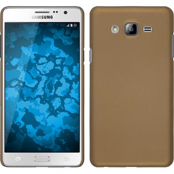 Hardcase Galaxy On7 gummiert gold