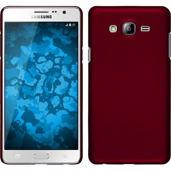 Hardcase Galaxy On7 gummiert rot