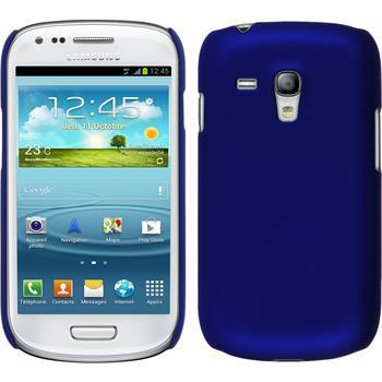 Hardcase für Samsung Galaxy S3 Mini gummiert blau