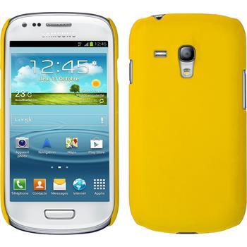 Hardcase Galaxy S3 Mini gummiert gelb