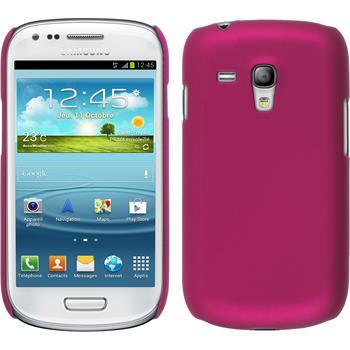 Hardcase Galaxy S3 Mini gummiert pink + 2 Schutzfolien