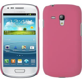 Hardcase Galaxy S3 Mini gummiert rosa