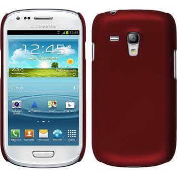 Hardcase Galaxy S3 Mini gummiert rot + 2 Schutzfolien