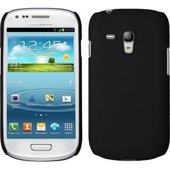 Hardcase Galaxy S3 Mini gummiert schwarz + 2 Schutzfolien