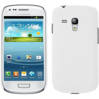 Hardcase Galaxy S3 Mini gummiert weiß + 2 Schutzfolien