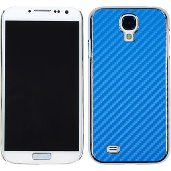 Hardcase for Samsung Galaxy S4 carbon optics blue