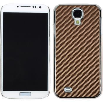 Hardcase for Samsung Galaxy S4 carbon optics brown